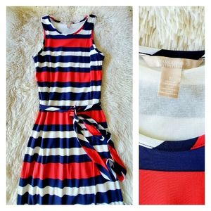 Banana Republic Red White & Blue Stripe Maxi Dress